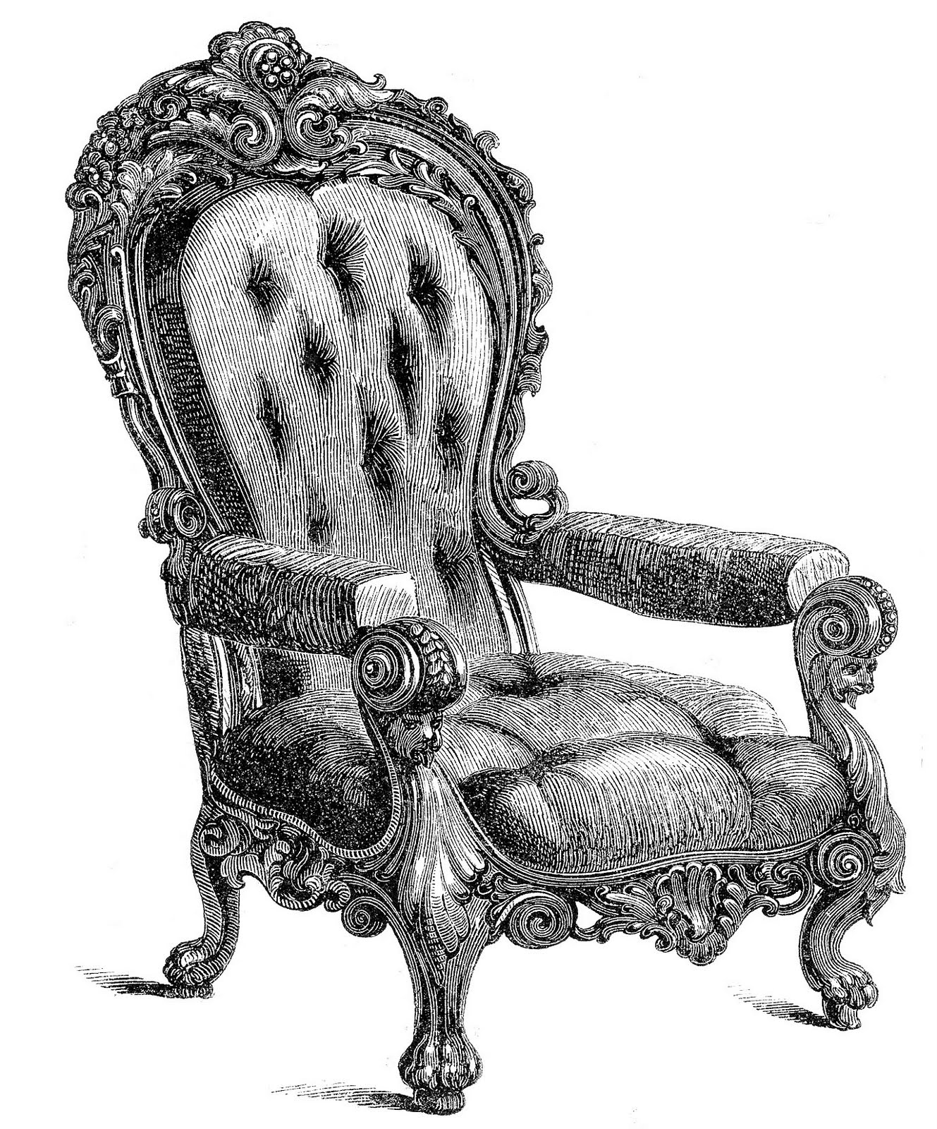 design vintage-fancy-chair-clipart-1