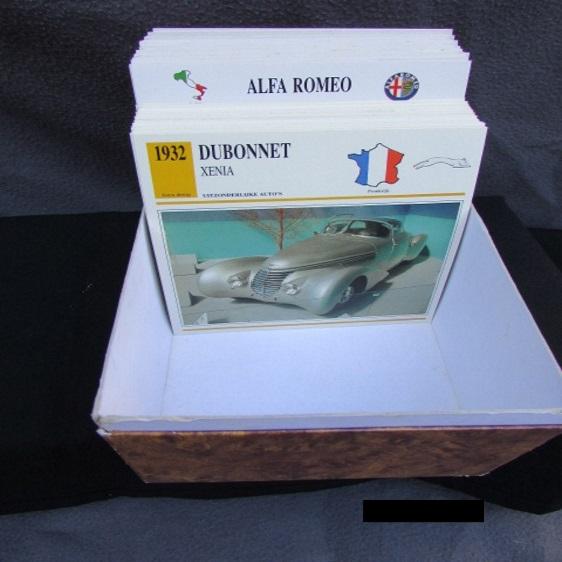 kaarten auto alfa bmw jaguar volkswagen chevrolet chrysler
