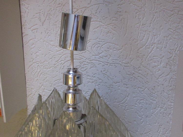 vintage jaren 70 hanglamp kunststof plastic