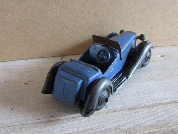 dinky toy meccano salmson 2 seater sports car blauw zwart 24
